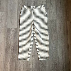 Madewell Tapered Pants in Stripe High Rise Sz 30